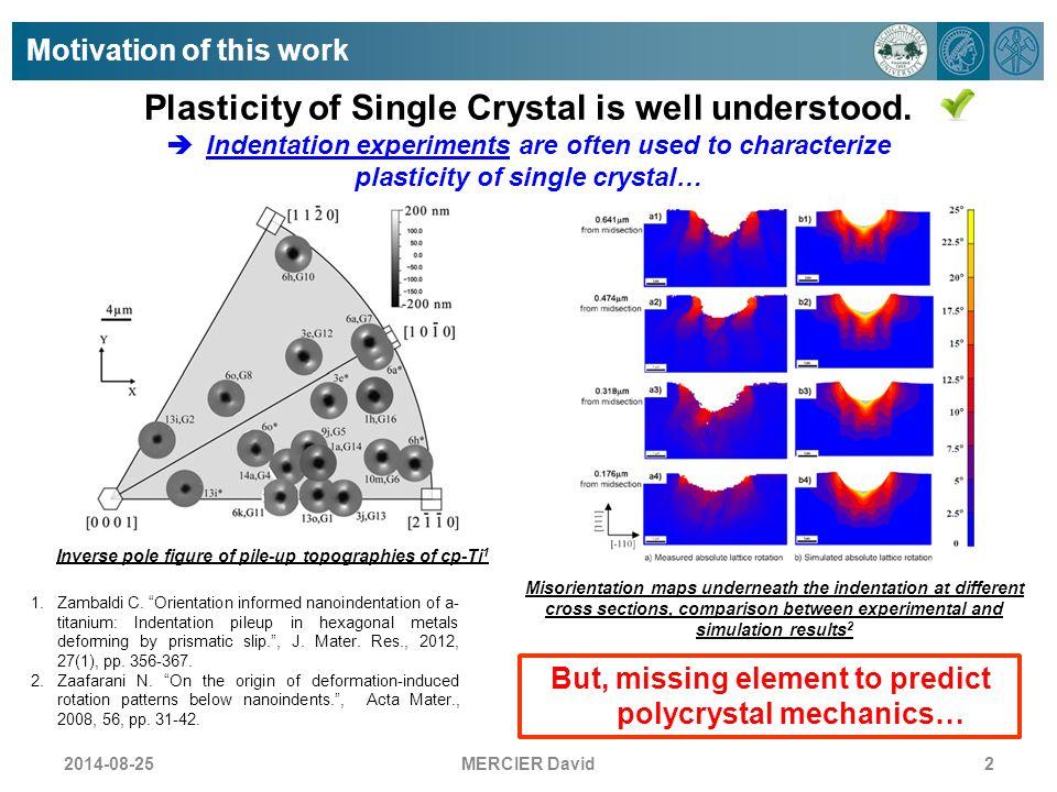 Plasticity of Single Crystal is well understood.
