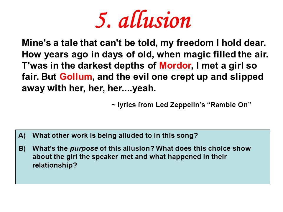 5. allusion