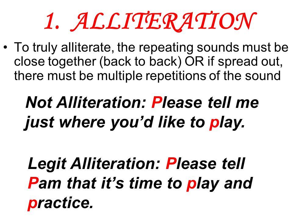1. ALLITERATION