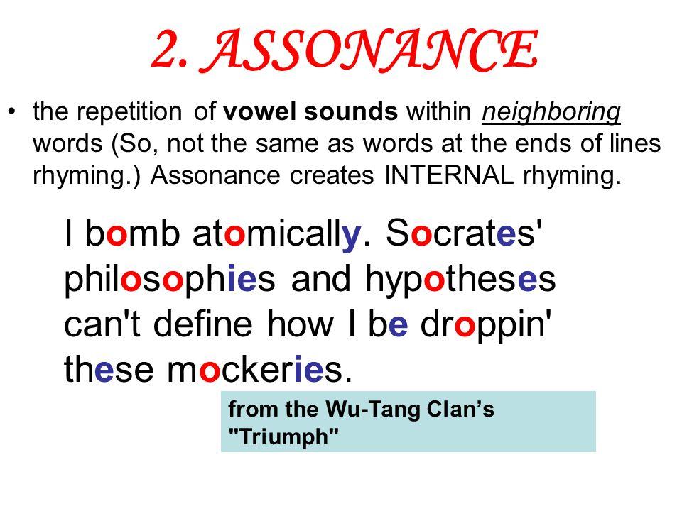 2. ASSONANCE