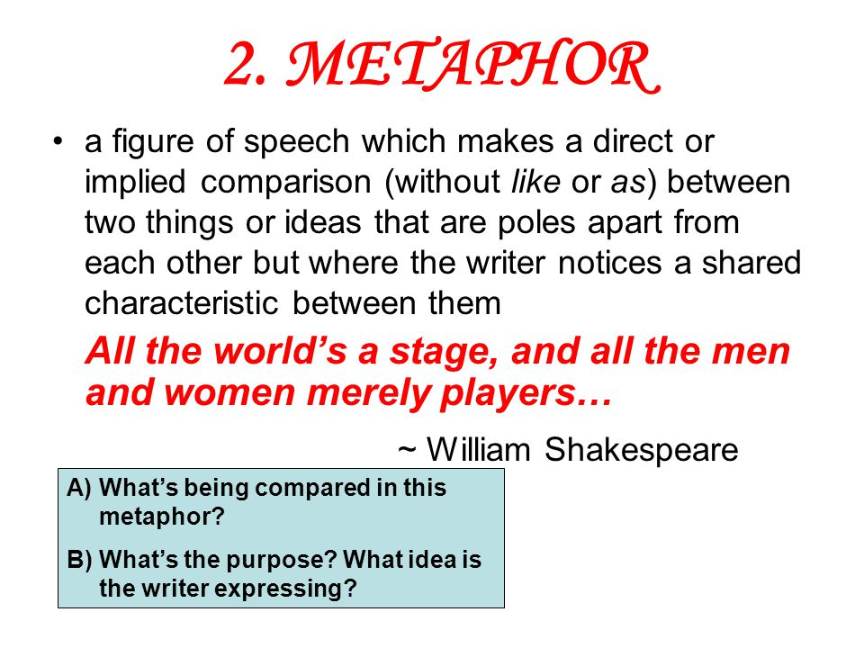 2. METAPHOR ~ William Shakespeare