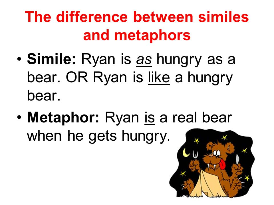 The difference between similes and metaphors