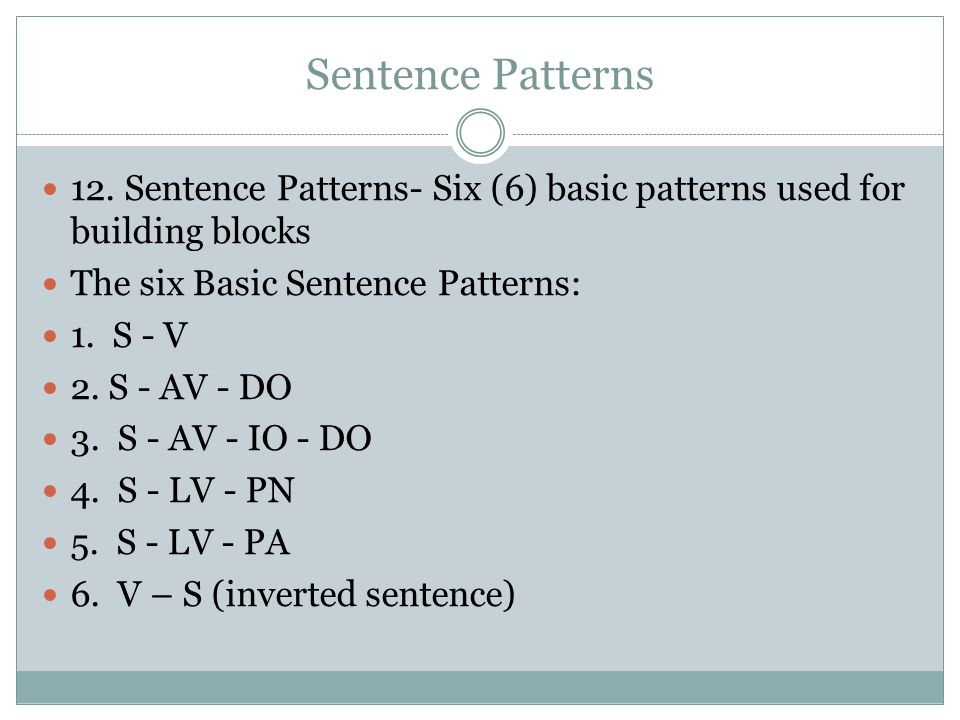 six sentence patterns (synonyms, antonyms), six-step vocabulary plan, vocabulary #1 lesson 4 writing (practice sentences), pattern 2 sentence, skills (simple sentence with compound.