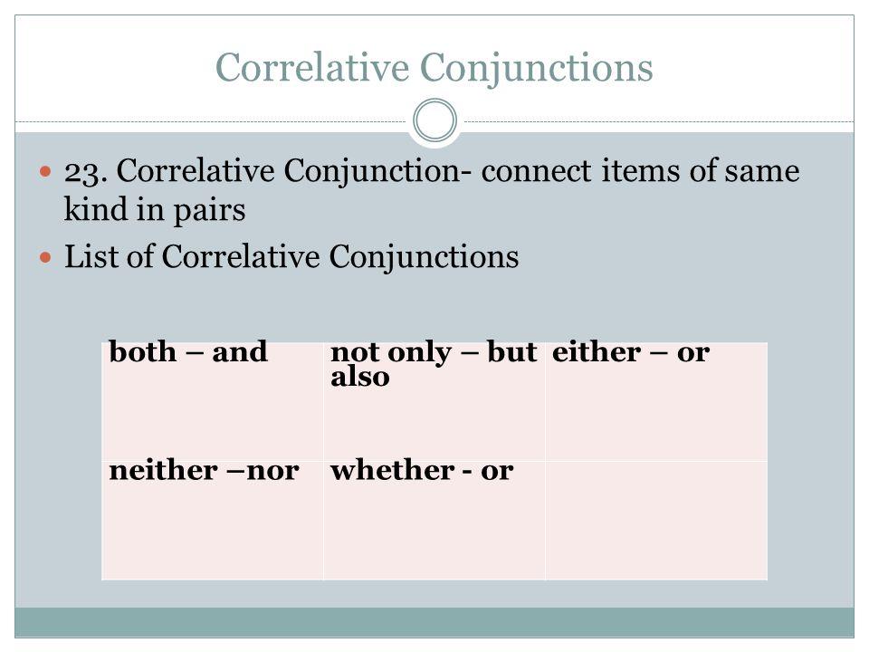 Correlative Conjunctions