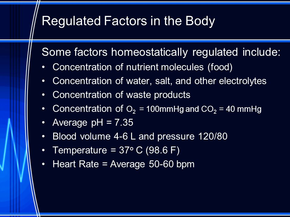Regulated Factors in the Body