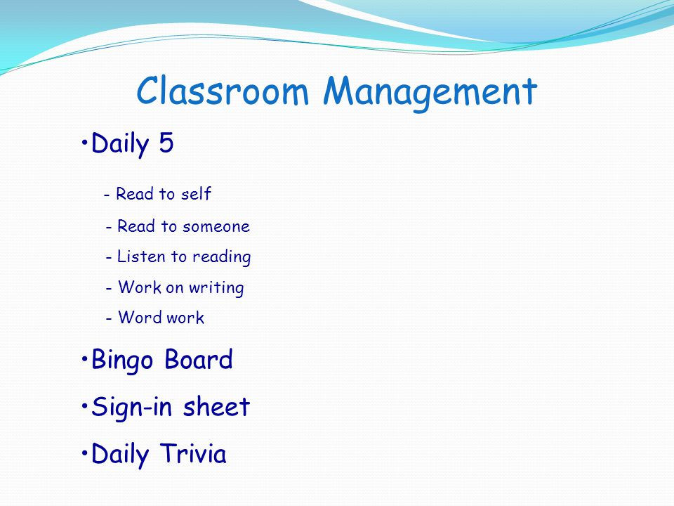 Classroom Management Daily 5 - Read to self Bingo Board Sign-in sheet