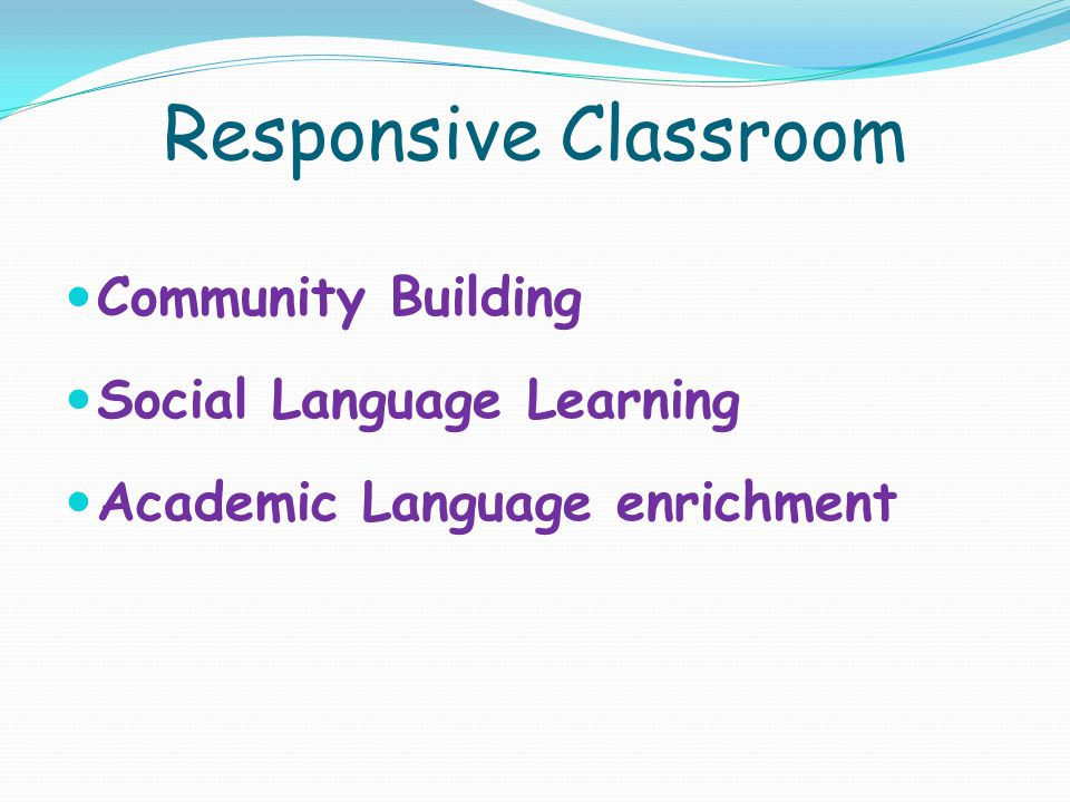 Responsive Classroom Community Building Social Language Learning