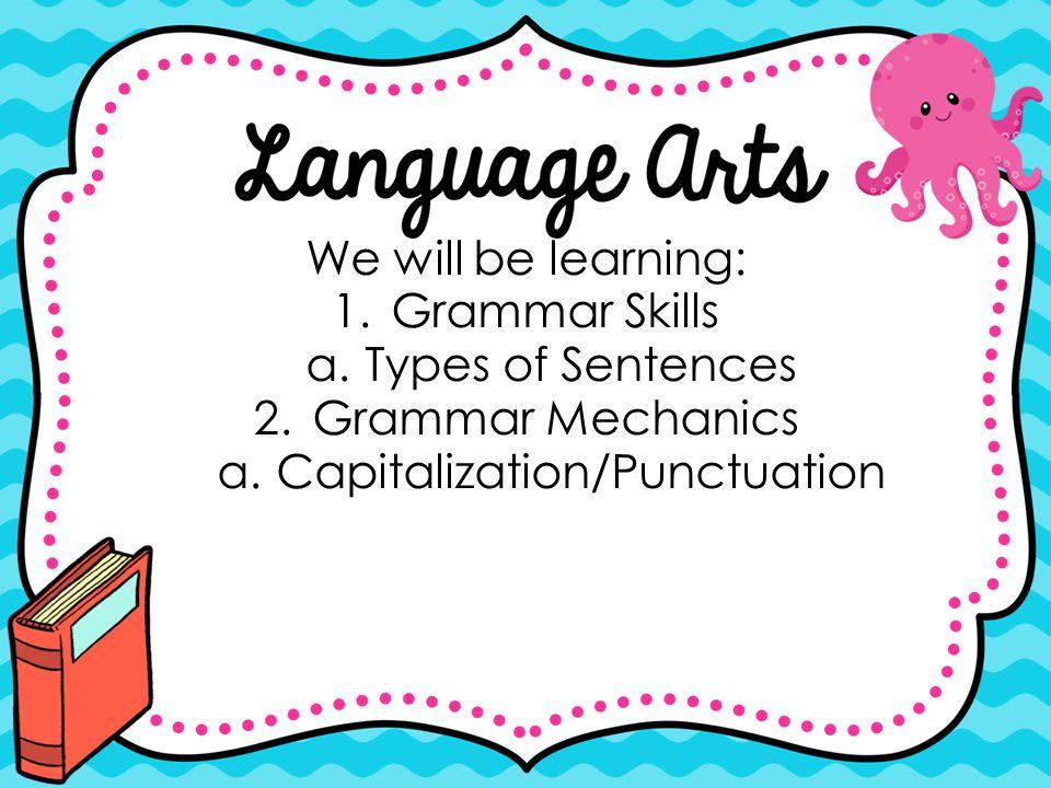 Capitalization/Punctuation