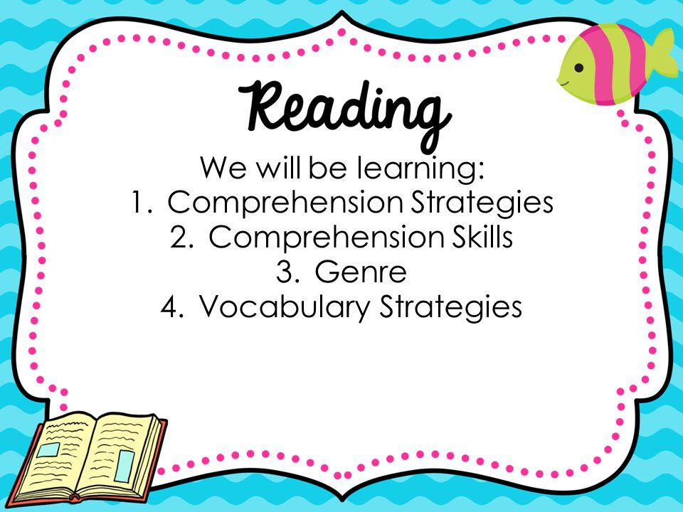 Comprehension Strategies Comprehension Skills Genre