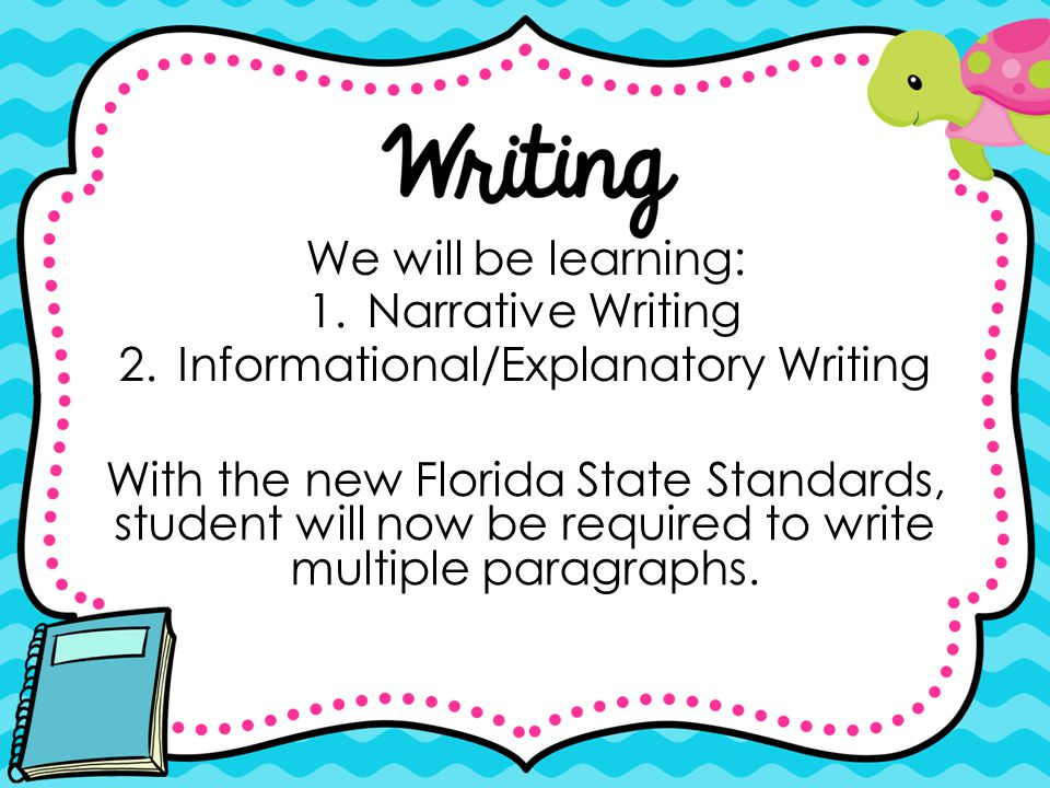 Informational/Explanatory Writing