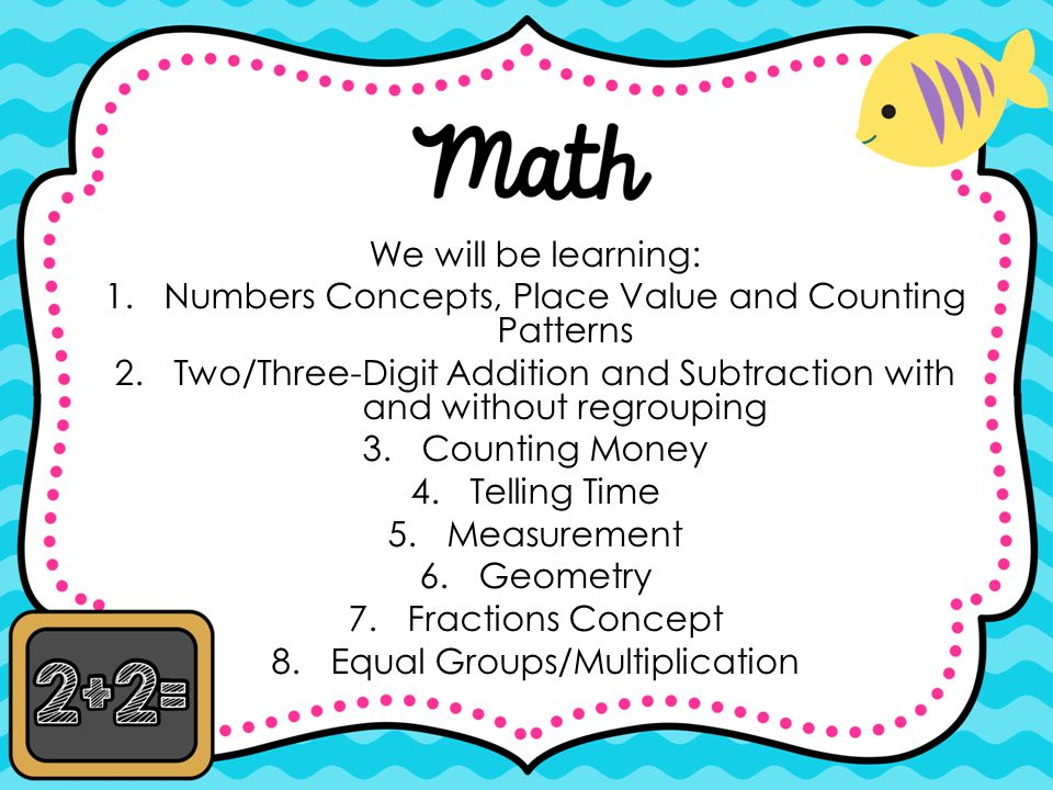 Numbers Concepts, Place Value and Counting Patterns