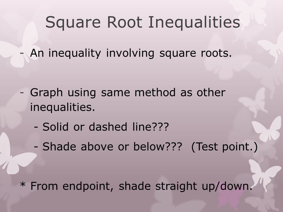 Square Root Inequalities