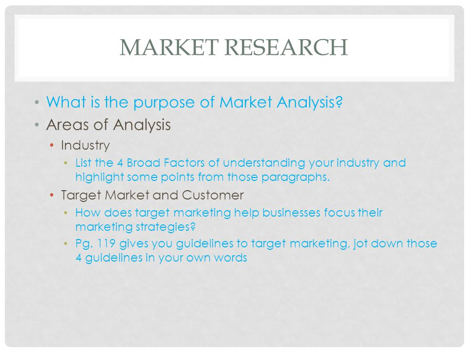 Market Research And Analysis - Ppt Download