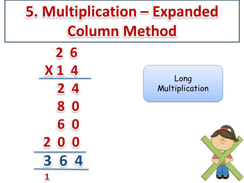 5. Multiplication – Expanded Column Method