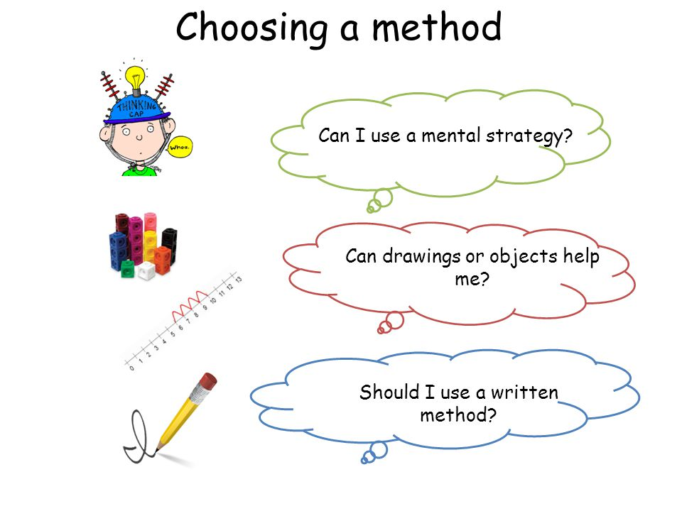 Choosing a method Can I use a mental strategy