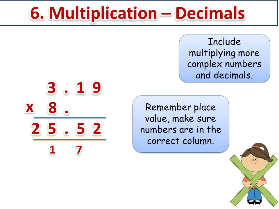 6. Multiplication – Decimals