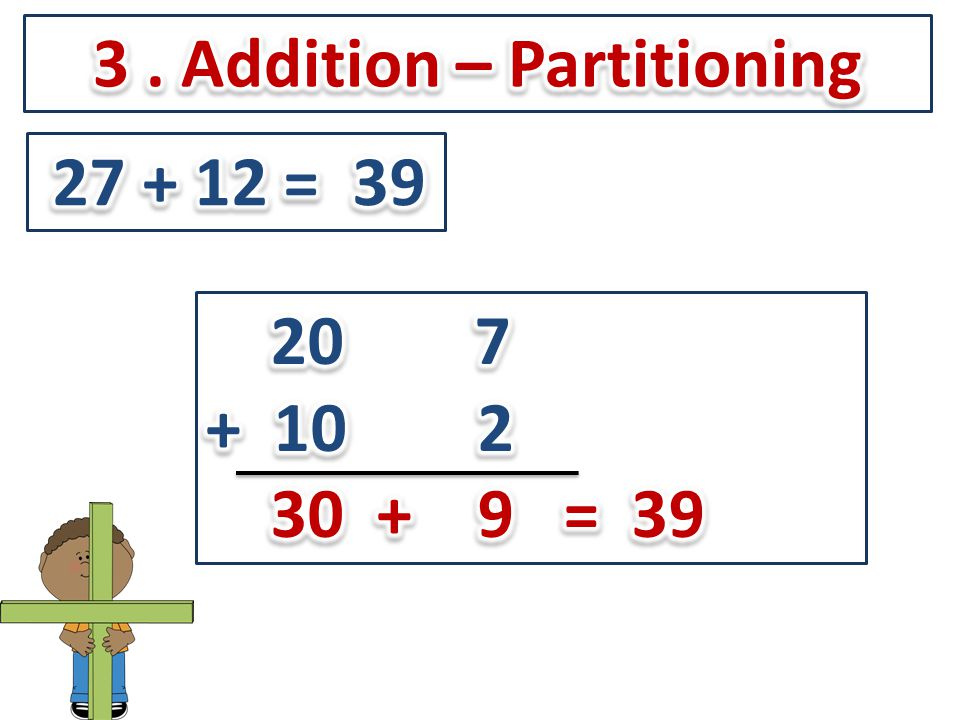 3 . Addition – Partitioning