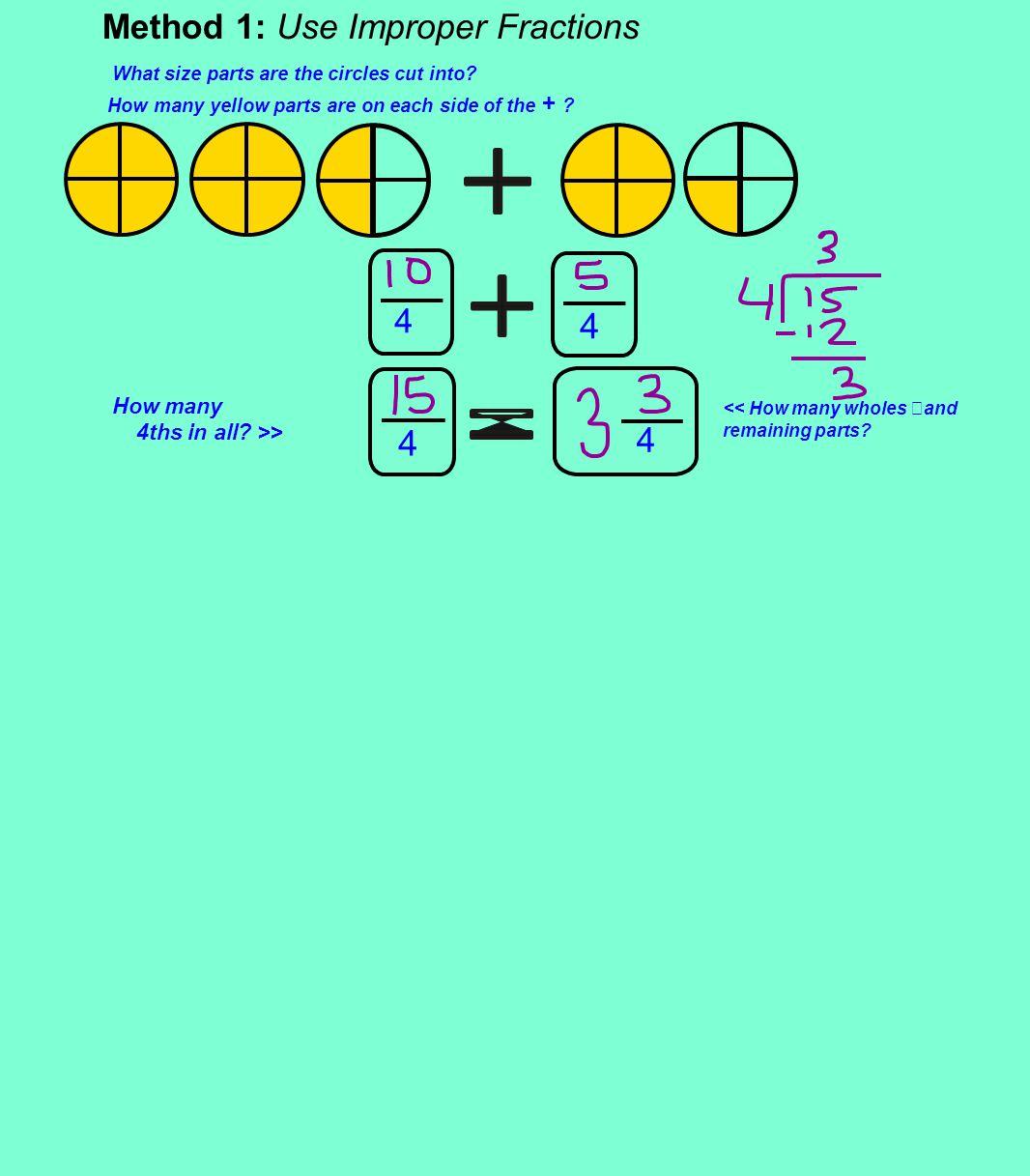 4 Method 1: Use Improper Fractions