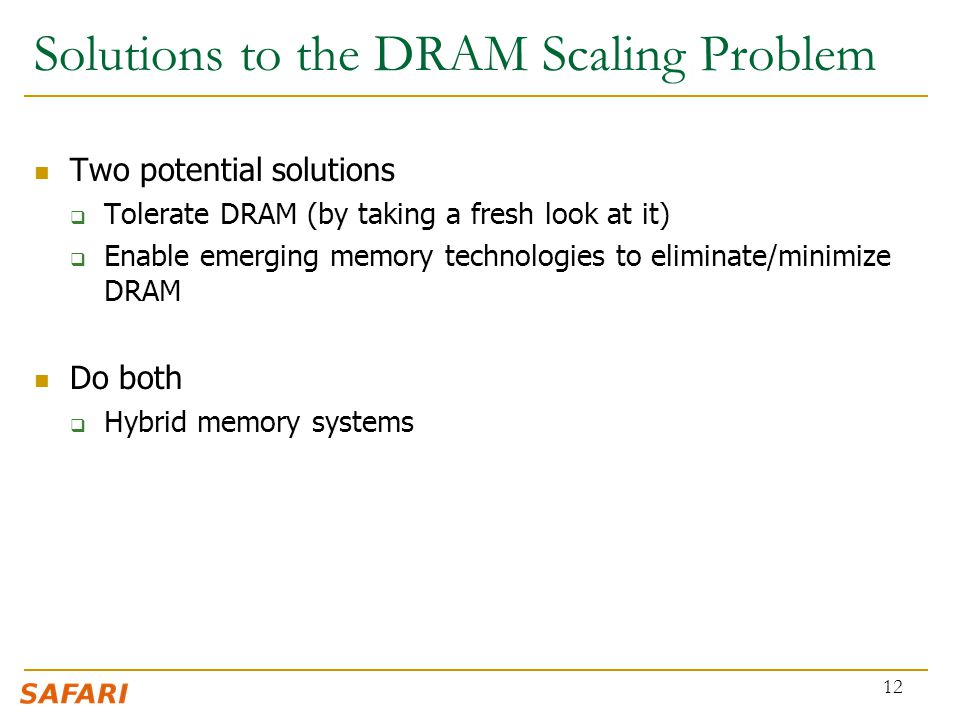 Solutions to the DRAM Scaling Problem