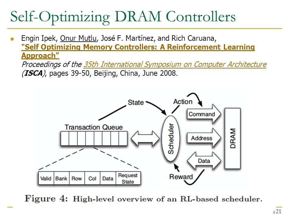 Self-Optimizing DRAM Controllers