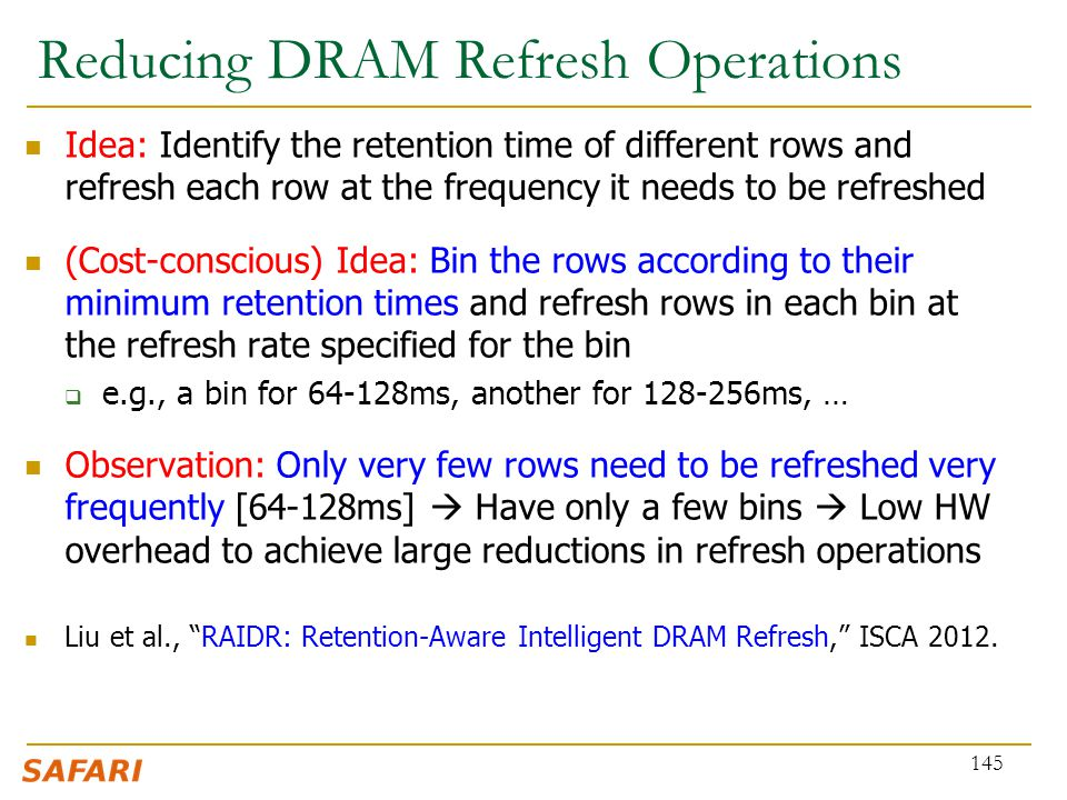 Reducing DRAM Refresh Operations
