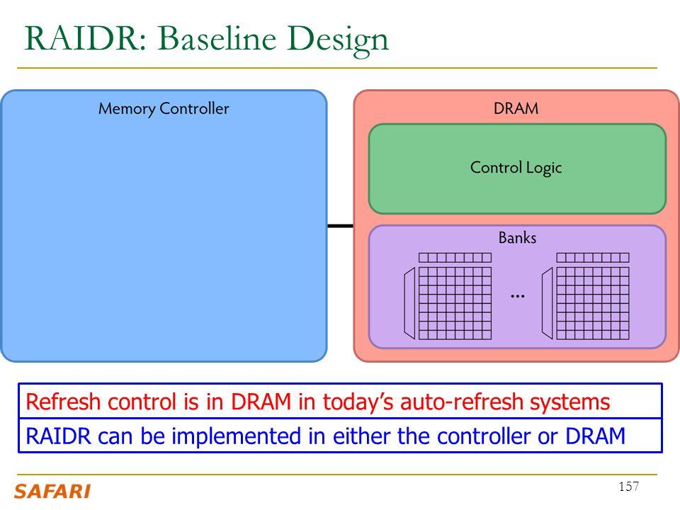 RAIDR: Baseline Design