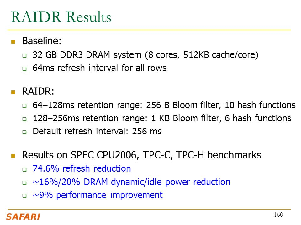 RAIDR Results Baseline: RAIDR: