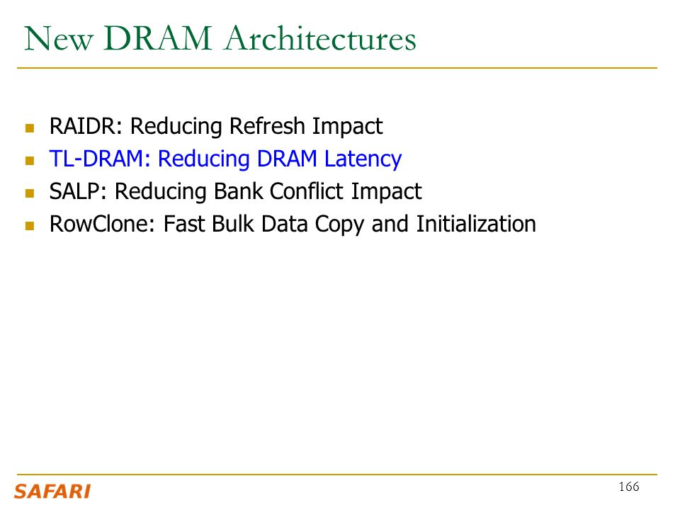 New DRAM Architectures