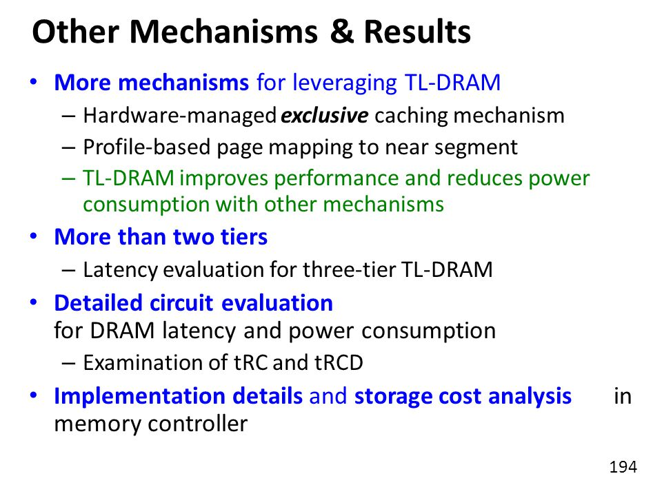 Other Mechanisms & Results