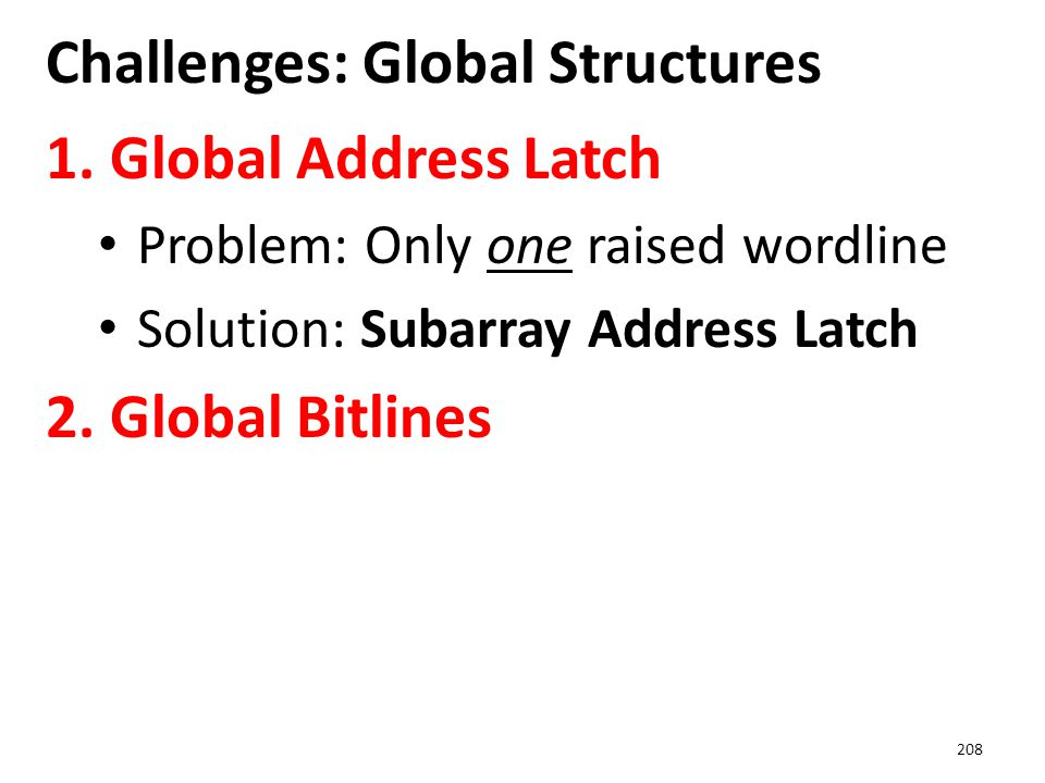 Challenges: Global Structures
