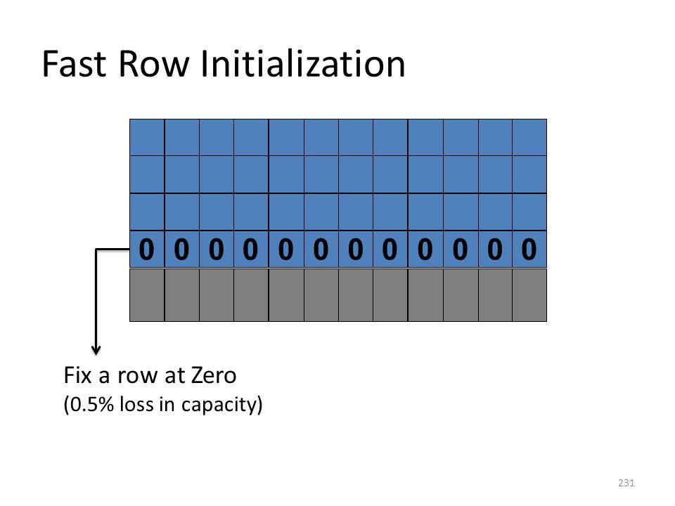 Fast Row Initialization