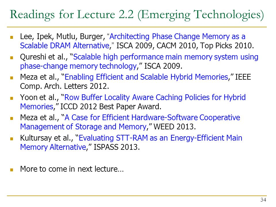 Readings for Lecture 2.2 (Emerging Technologies)