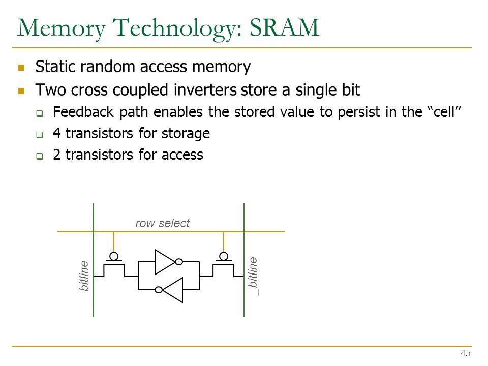 Memory Technology: SRAM