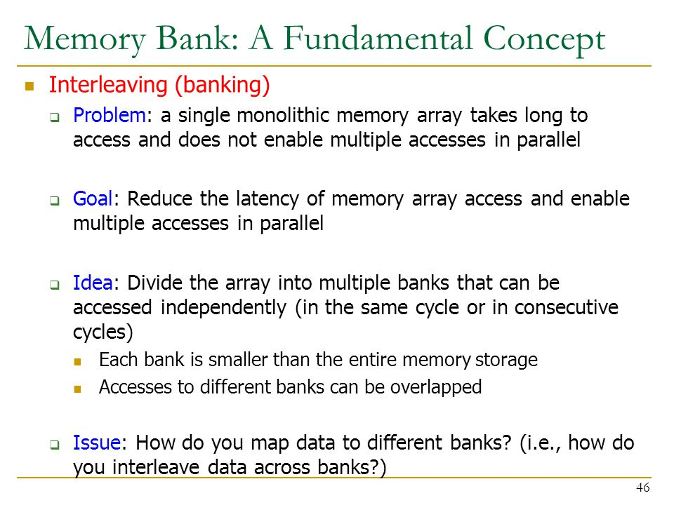 Memory Bank: A Fundamental Concept