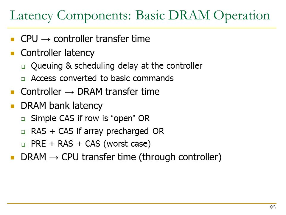 Latency Components: Basic DRAM Operation