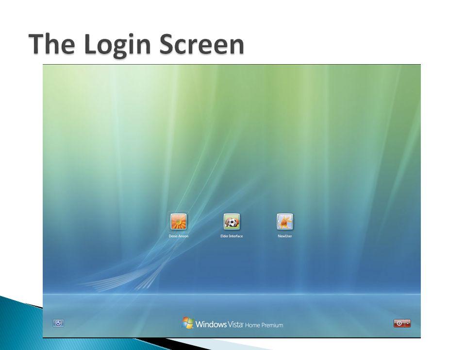 The Login Screen