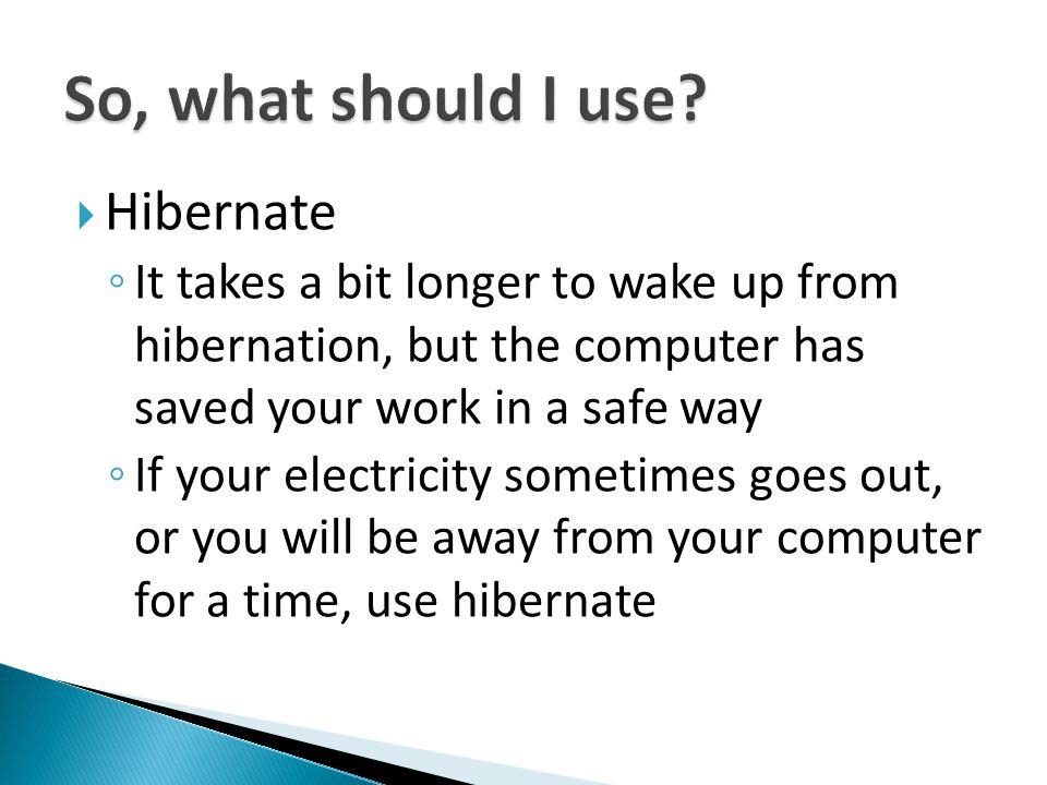So, what should I use Hibernate