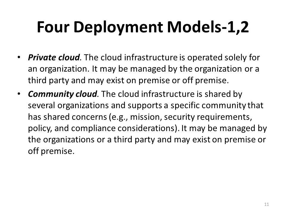 Four Deployment Models-1,2