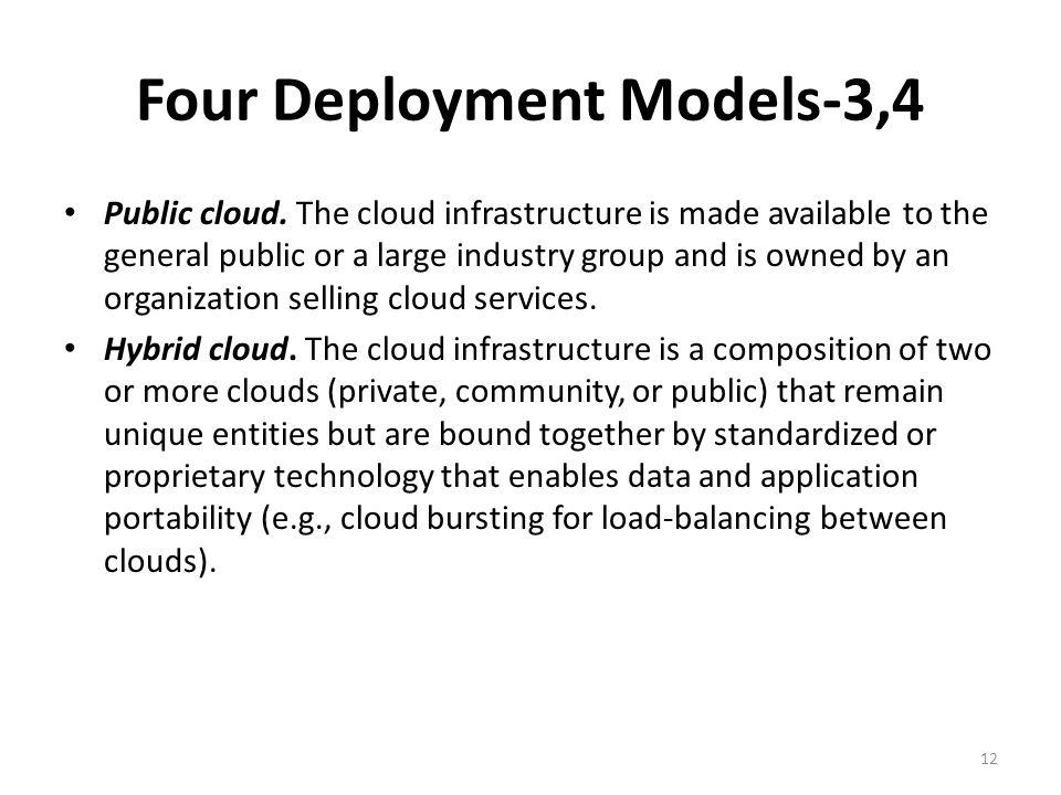 Four Deployment Models-3,4