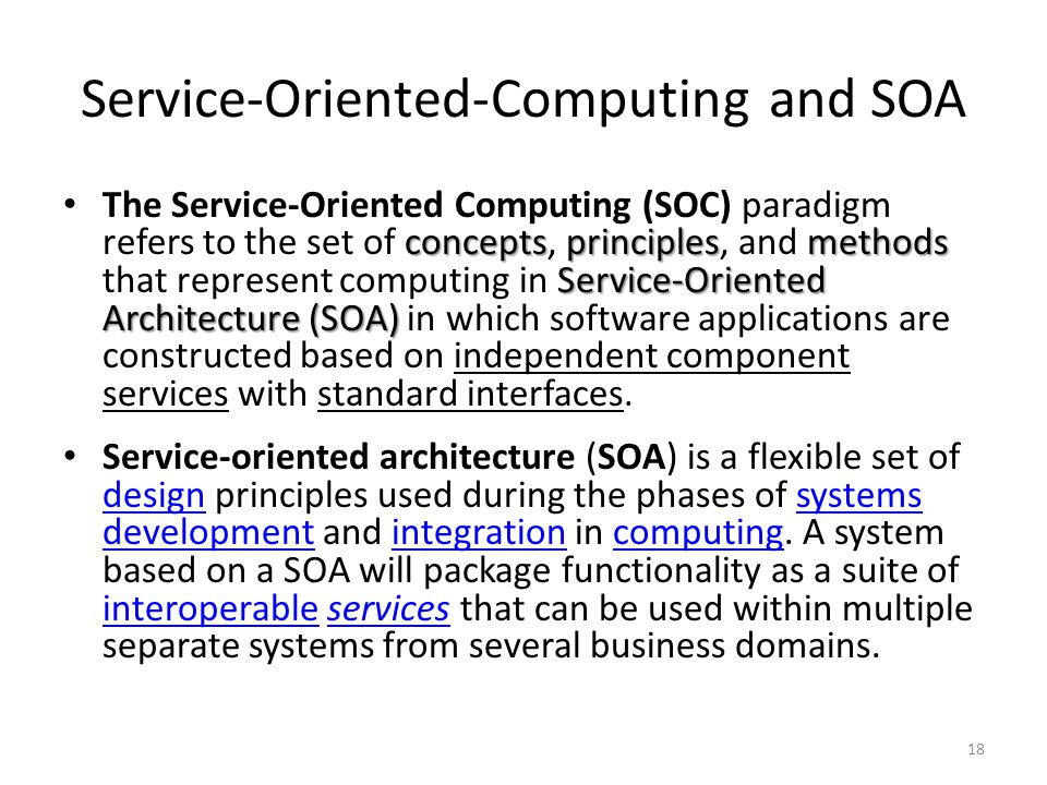 Service-Oriented-Computing and SOA