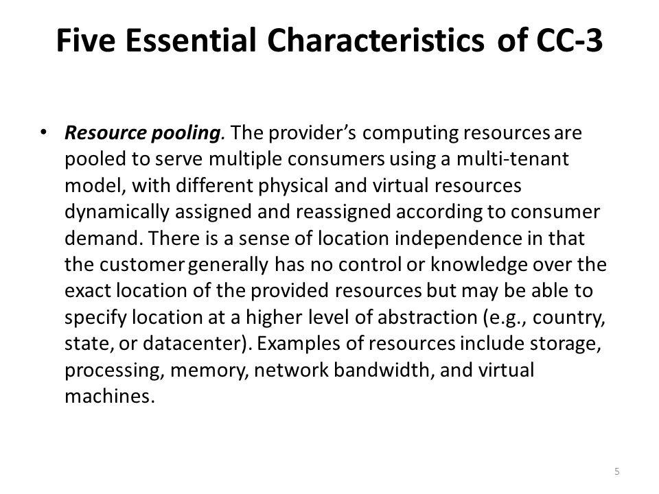 Five Essential Characteristics of CC-3