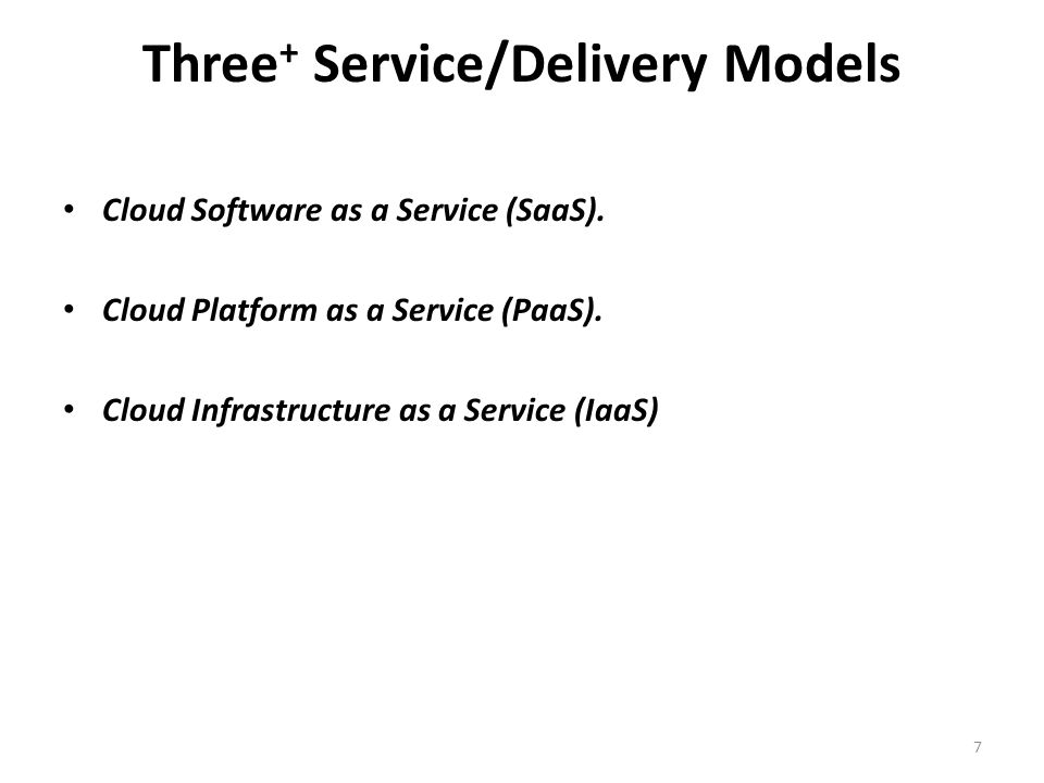 Three+ Service/Delivery Models