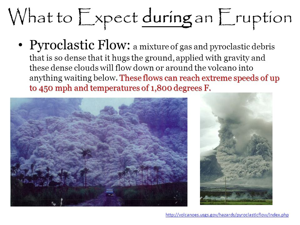 What to Expect during an Eruption