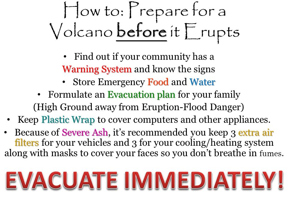 How to: Prepare for a Volcano before it Erupts