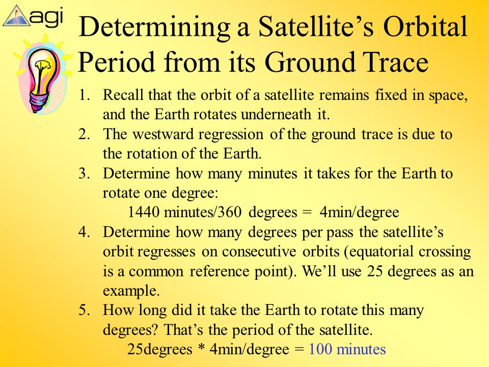Determining a Satellite's Orbital Period from its Ground Trace