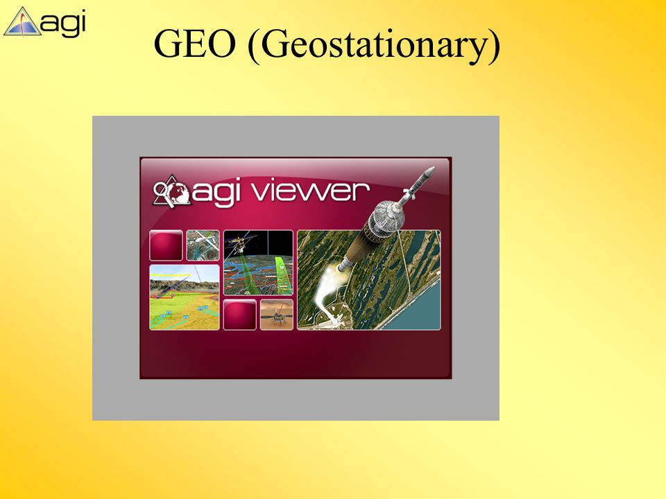 GEO (Geostationary) This slide displays the AGI viewer file Geostationary_v9_2.vdf to demonstrate content within the previous slide.