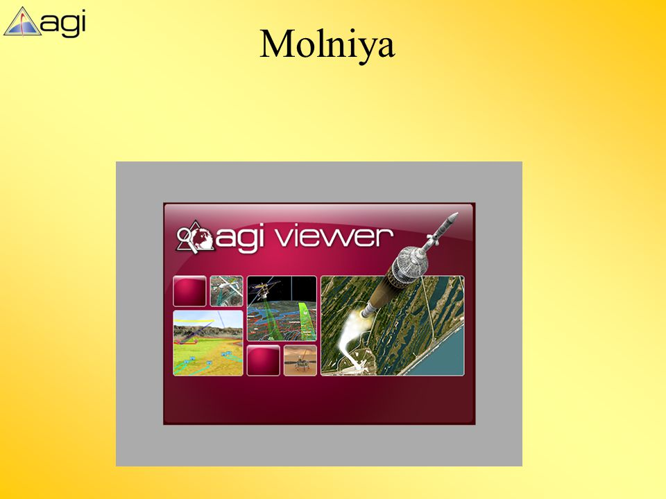 Molniya This slide displays the AGI viewer file Molniya_v9_2.vdf to demonstrate this concept within the previous slide.