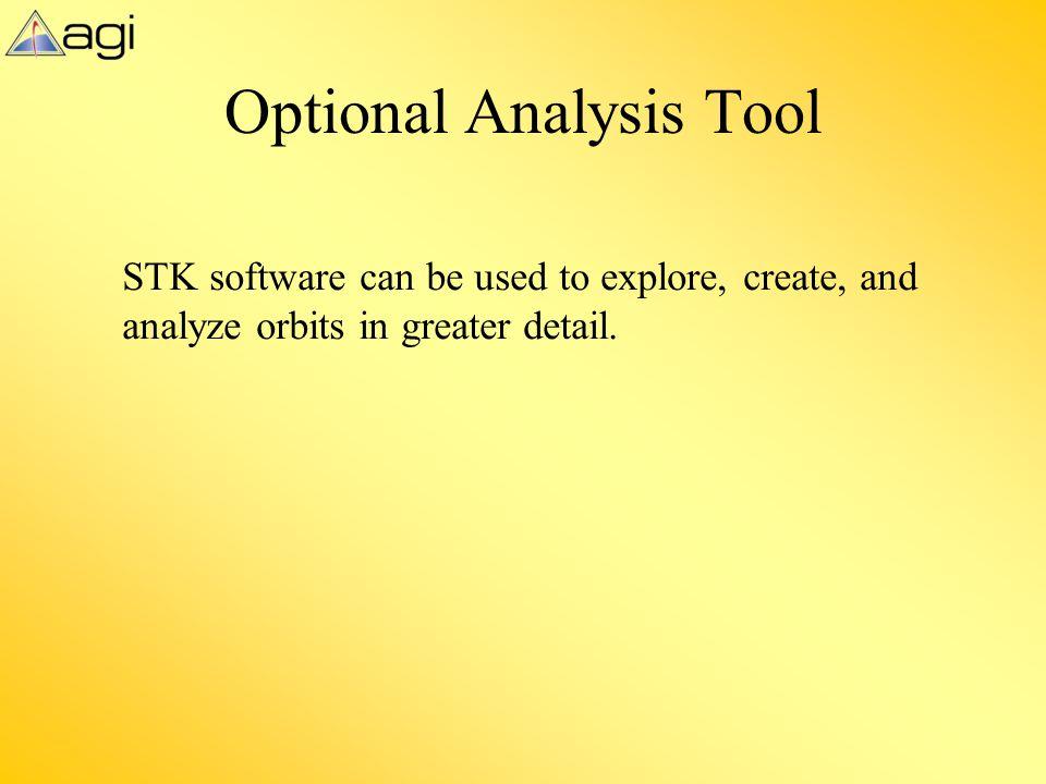 Optional Analysis Tool