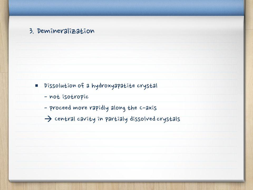 3. Demineralization