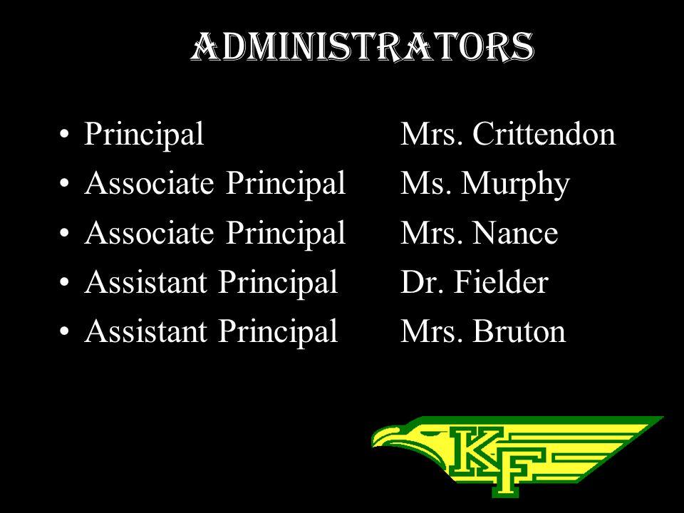 Administrators Principal Mrs. Crittendon
